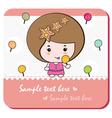 lollipop girl card vector image