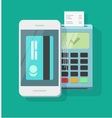 Mobile phone payment processing wireless vector image