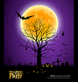 Halloween party greeting card vector image vector image