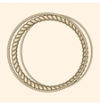 Round marine ropes frame for text vector image vector image