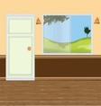 wall windows door vector image