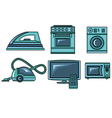 icons of appliances vector image