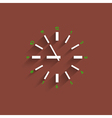 Clock with transparent shadow vector image vector image