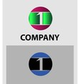 Number one 1 logo icon template vector image