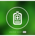 Medical records icon medical check health doctor vector image