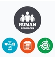 Human resources sign icon HR symbol vector image