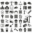 building icons on white vector image
