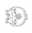 closed safe door vector image