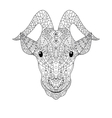 Goat head Coloring for adults vector image