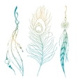 Nice graphic feather vector image