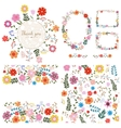 Set of floral backgrounds Spring and summer vector image