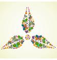 Spring green energy icon vector image