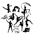 Kid Hobbies Activity Silhouettes vector image