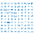 set of 100 Milk icons vector image vector image