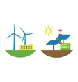 Alternative energy wind station vector image