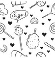 hand draw of sweet candy doodle style vector image