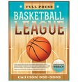 Basketball League Flyer or Poster vector image vector image