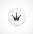 crown icon 2 colored vector image