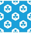 Clover hexagon pattern vector image