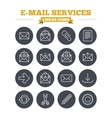 Mail services linear icons set Thin outline signs vector image vector image