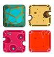 Different Materials and Textures for Game Square vector image