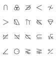 Mathematics Icons 5 vector image