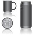 aluminum packaging vector image