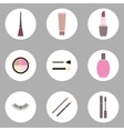 Cosmetic flat icon set vector image
