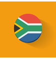 Round icon with flag of South Africa vector image