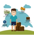 travel infographics design vector image