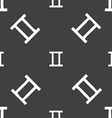 Gemini sign Seamless pattern on a gray background vector image