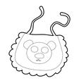 Baby bib icon isometric 3d style vector image