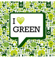 green icons background texture vector image