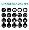 infographic icon set vector image