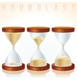 Hourglass Three Different States Graphics vector image vector image