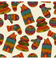 seamless winter Christams pattern vector image vector image