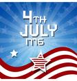 American Flag Background - 4th July 1776 heme vector image