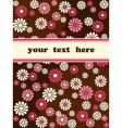 retro banner with pink flowers vector image vector image