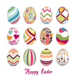 easter eggs happy easter vector image