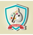 shield back to school design vector image