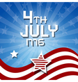 American Flag Background - 4th July 1776 heme vector image