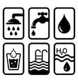 black water concept symbols vector image