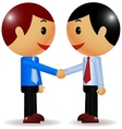 Businessman shake hand vector image