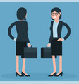 cartoon young business women vector image