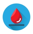 drop of blood icon vector image