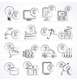 payment of bills icons vector image