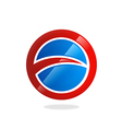 round circle loop business logo vector image