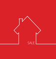 sale house in red vector image