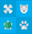 set of simple wild icons vector image