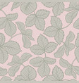 strawberry leaves seamless pattern vector image